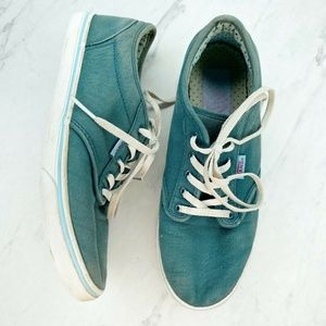 Vans Blue Green Skate Sneakers Shoes Size 6.5